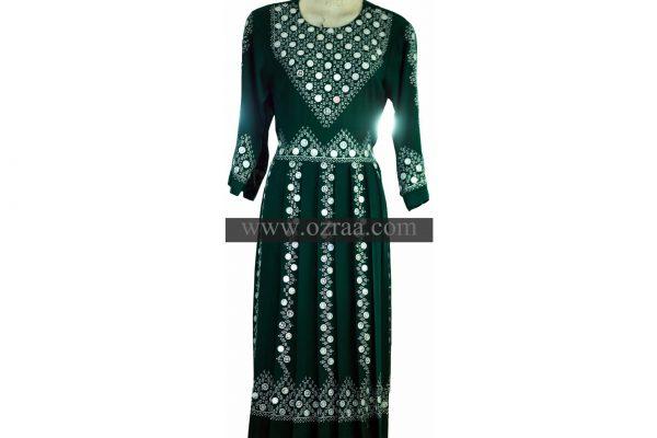 Hazaragi Shall Dress Hand Made Mirror in Green
