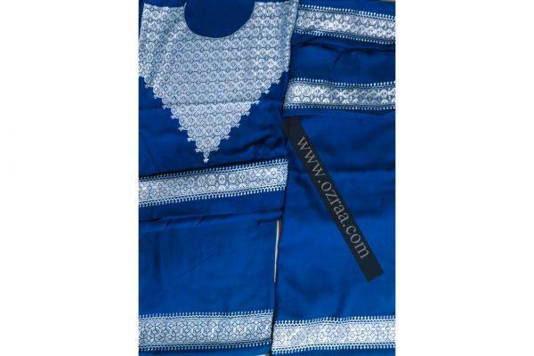 Hazaragi Shall Dress Hand Made in Blue