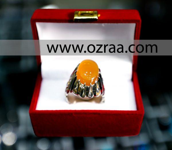 Original Yellow Yamni Aqeeq Stone Diamond