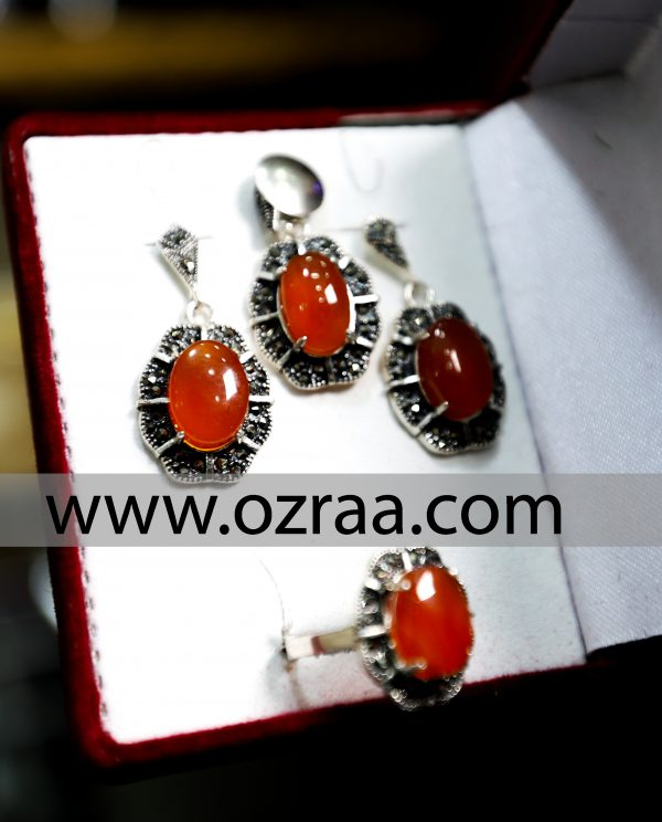 Haqeq Yaman Earring, Ring, and Necklace