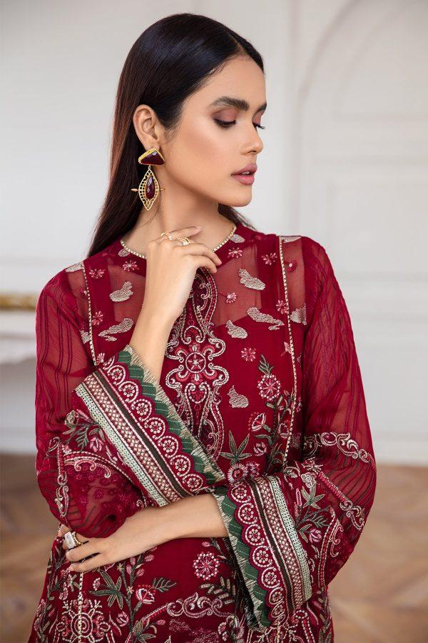 Jazmin Mahpare Kaavish Embroidered Chiffon Front
