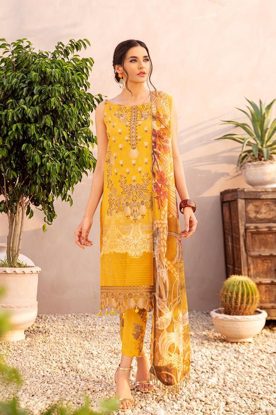 Ramsha Chevron Lawn Collection Suit