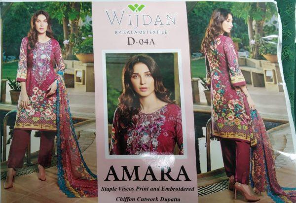 Wijdan Amara Staple Viscos Printed Suit