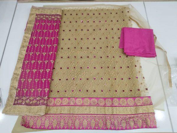 Beautiful Net Dress 3PC in Chiffon Dupatta