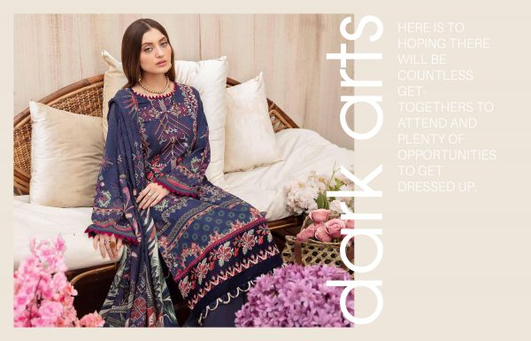 Digital Embroidered Printed Chevron Lawn Collection