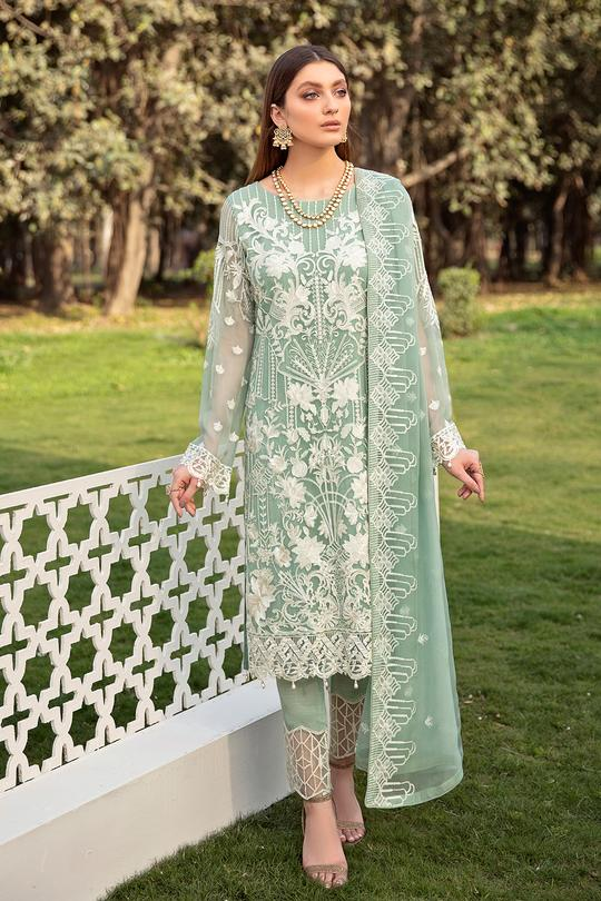 New Ramsha Volume 20 Embroidered Chiffon Suit