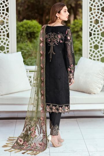 Embroidered Organza Minhal Vol-4 Collection