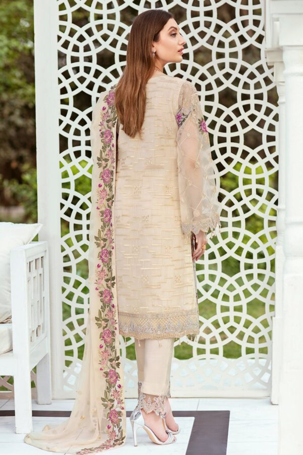 Embroidered Organza front with sequence back