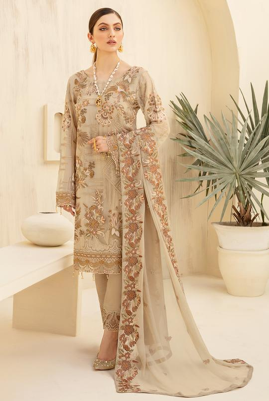 Embroidered Chiffon High Quality Ladies Collection by Rangoon Vol-7