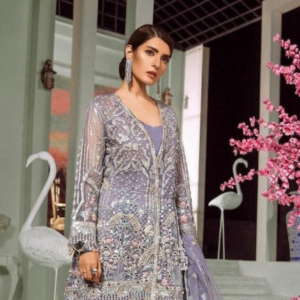 Formal Dress Handmade Embroidered in Organza